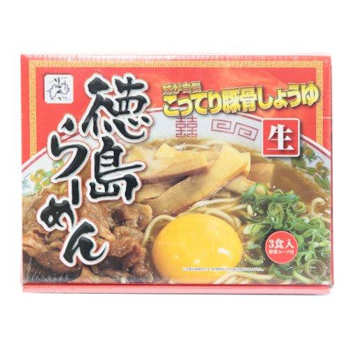 【徳島ラーメン】味が自慢 徳島ラーメンこってり豚骨しょうゆ(3食入特製スープ付)【サヌキヤ】