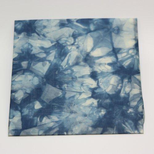 【藍染】むらくもハンカチ【加藤織布】水彩画のような藍色の濃淡が美しいハンカチ!【メール便対応】