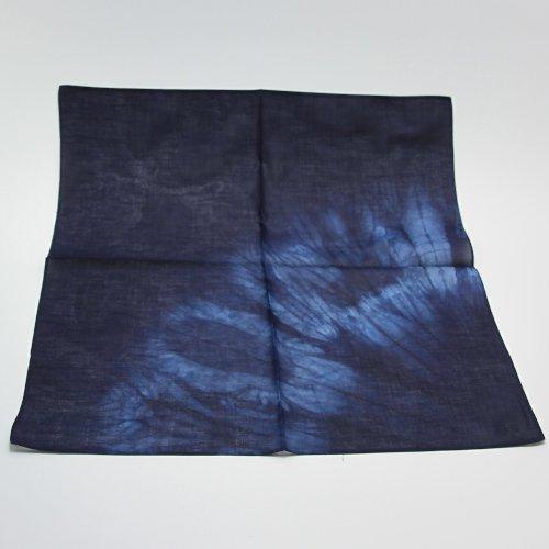 【本藍染矢野工場】 本藍染ハンカチ 【絞りハンカチ】
