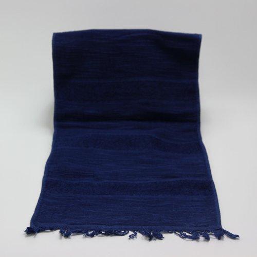 【本藍染矢野工場】 コットンマフラー 【天然灰汁発酵建て本藍染】