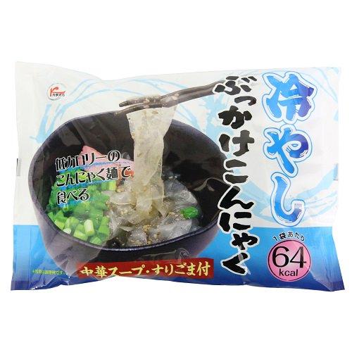 低カロリーのこんにゃく麺で食べる 冷やしぶっかけこんにゃく 【カタオカ】