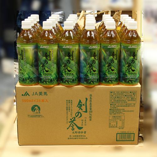 剣の誉(つるぎのほまれ)【にし阿波秋の物産展】徳島県産茶葉100%使用500ml緑茶ペットボトル24本【送料込】