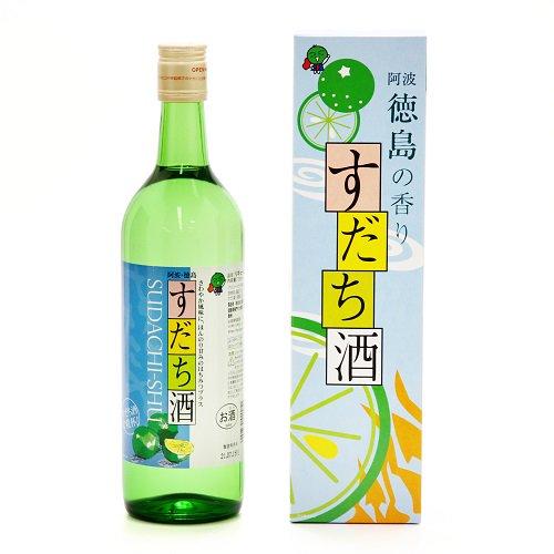 すだち酒(720ml)【本家松浦酒造場】 清酒作りにかかせない豊かな吉野川の恵みが、すだちの香りや酸味と出会いました!
