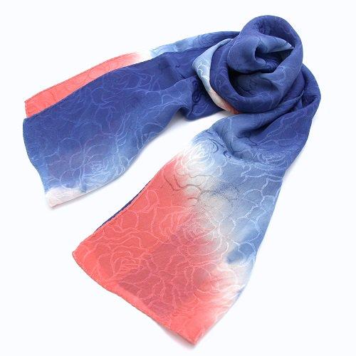 藍染絹スカーフ(あかね染)