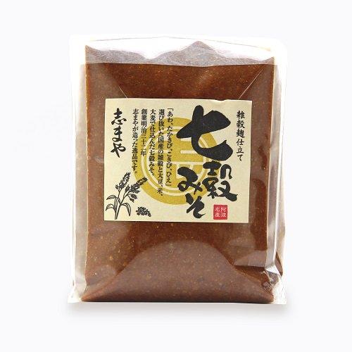 志まやの七穀みそ(1kg)【7種の国内産雑穀 大豆、米、たかきび、こきび、あわ、ひえ、大麦】