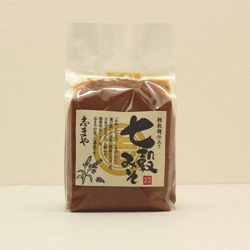 志まやの七穀みそ(500g)【7種の国内産雑穀 大豆、米、たかきび、こきび、あわ、ひえ、大麦】