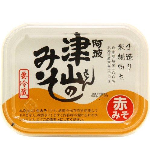 阿波津山さんのみそ(赤味噌)【450g】手造り米糀みそ【保存料無添加】