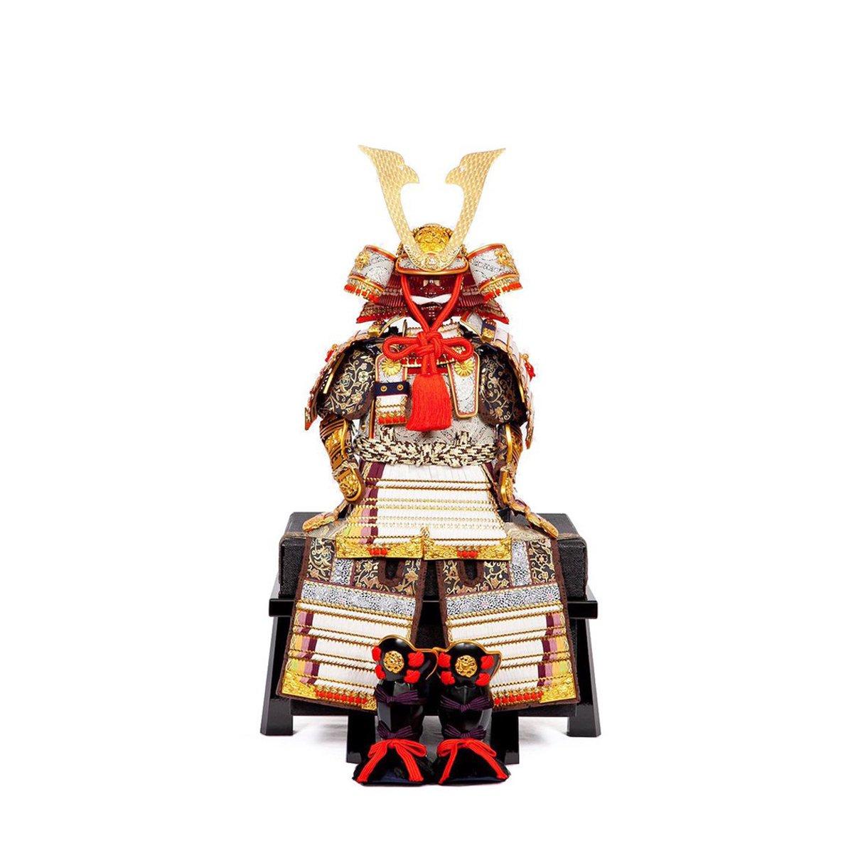 鎧飾り単品 7号 白糸威褄取大鎧 鈴甲子雄山作
