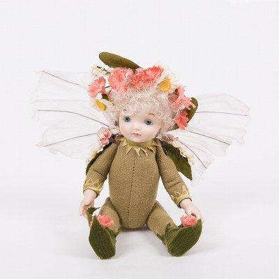 創作人形 リトルエルフィン ピンク  ビスクドール 若月まり子作