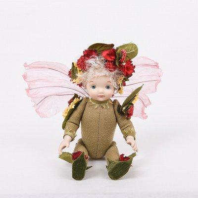 創作人形 リトルエルフィン レッド ビスクドール 若月まり子作
