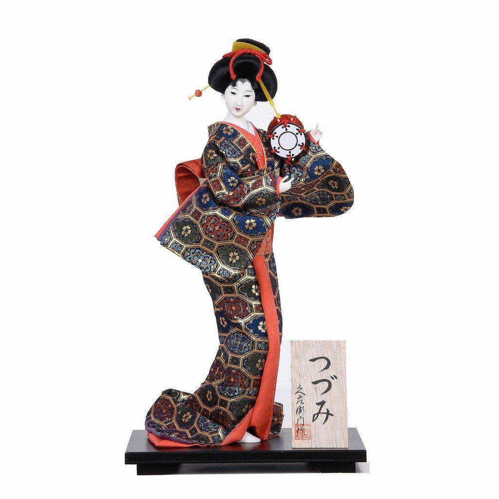日本人形 金襴総柄 鼓
