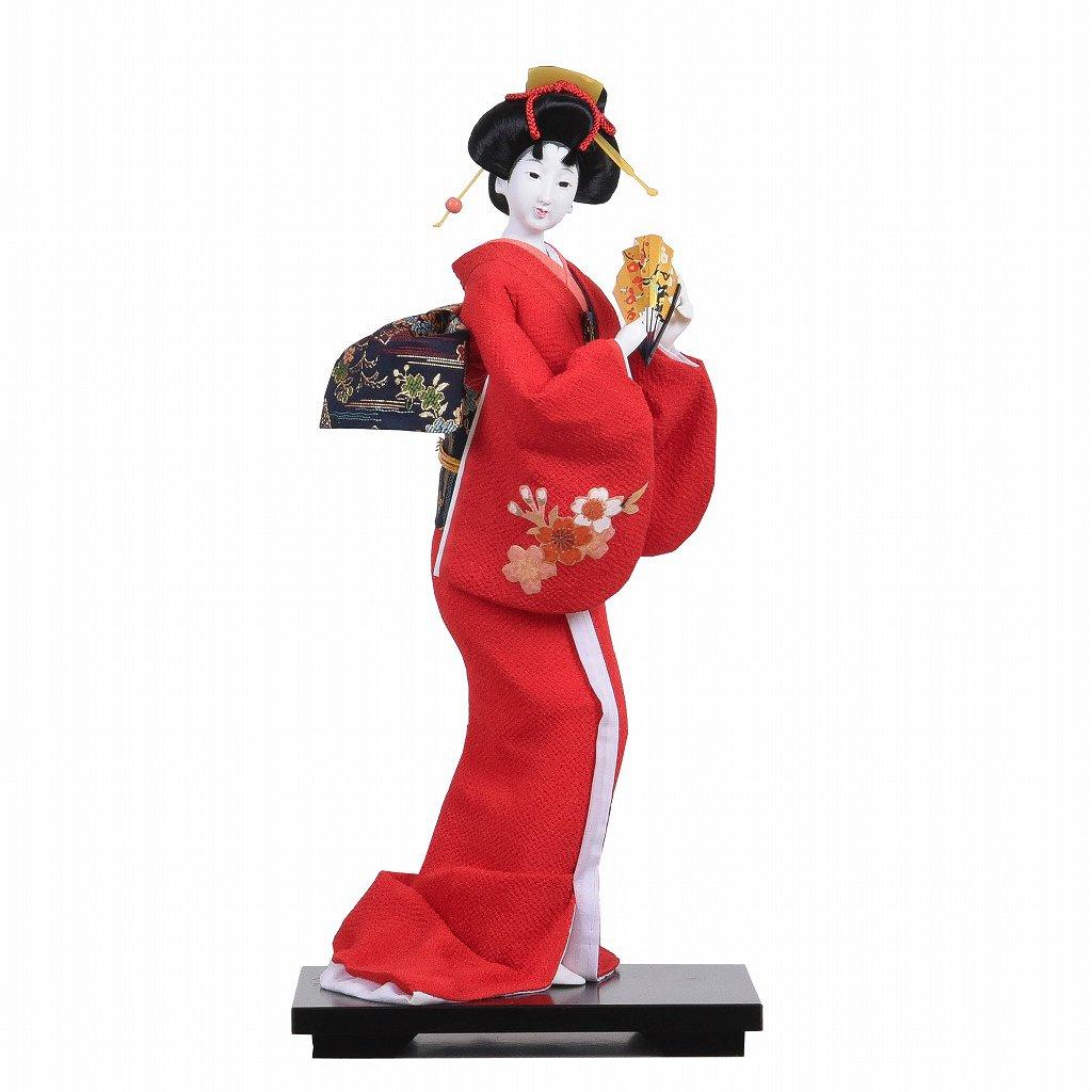 日本人形 ちりめん赤 鼓