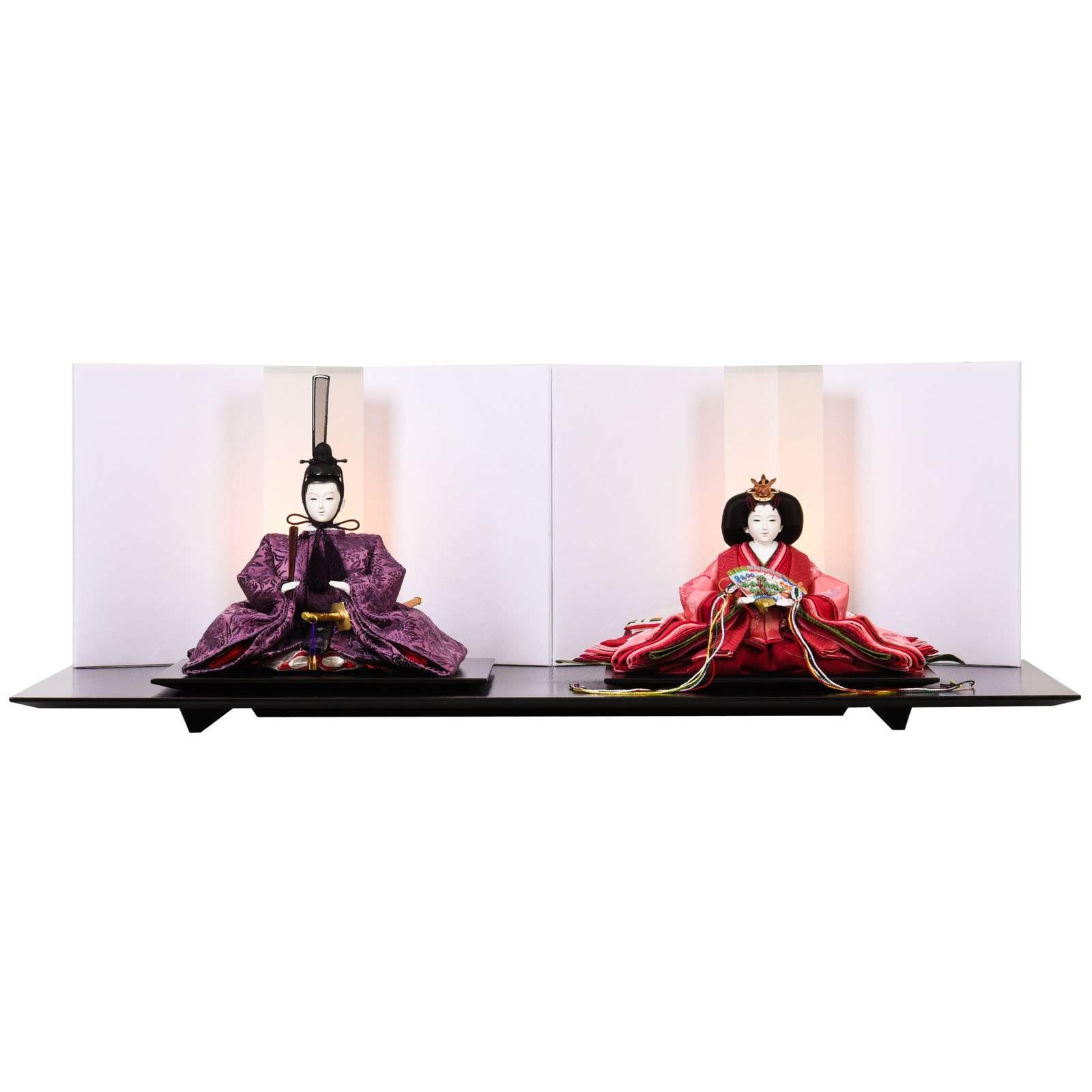 ひな人形 三五 親王飾り 有職正絹 清水久遊
