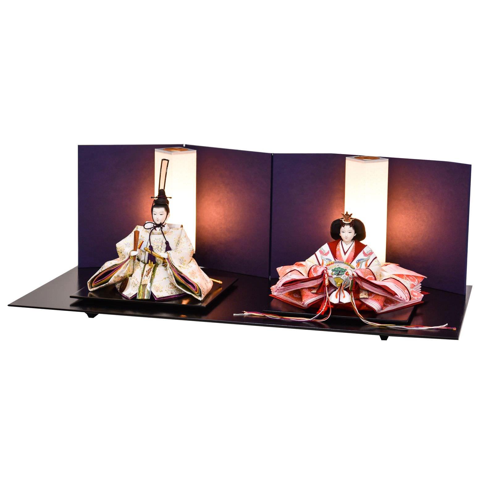 雛人形 三五 親王飾り 白金本仕立