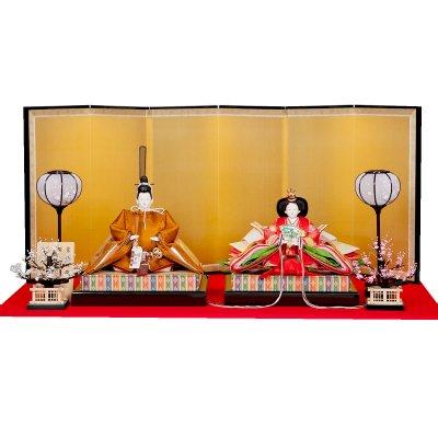 雛人形 十番 京九 親王飾り 黄櫨染御袍 小出松寿 藤沢瑞馨