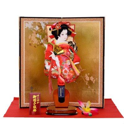 羽子板 屏風セット 13号 麗華 鶴刺繍