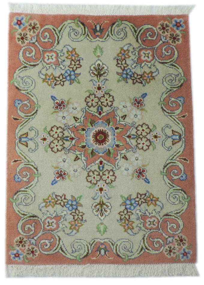 w-117 ペルシャ絨毯・カーペット ウール100% 手織り ペルシャ絨毯の本場(イラン タブリーズ産) 玄関マットサ…