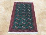 ペルシャ絨毯・カーペット ウール100% 手織り ペルシャ絨毯の本場 (イラン トルクメン産) 中型サイズ:190cm×133cm【本物保証】 h-139