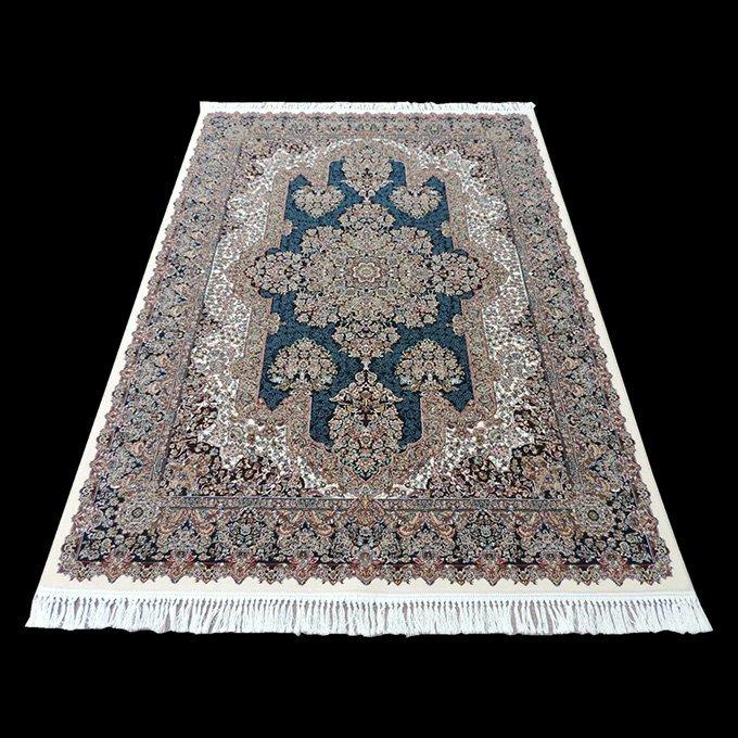 sn-1019 ペルシャ絨毯(カーペット/ラグ):60万ノット 機械織り 本場 イラン クム産 【高品質/高級】