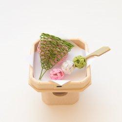 お供え飾り 卯月/花見・桜餅と三色団子