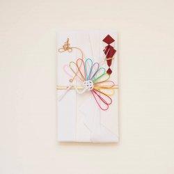 【結婚祝】寿ご祝儀袋 菊鶴 レインボーカラー