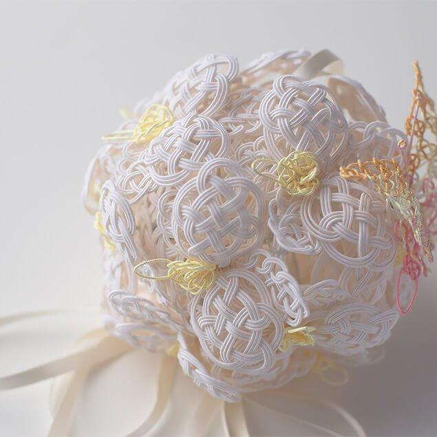 水引レースのボールブーケ 胡蝶蘭