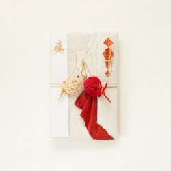 【結婚祝】プレミアム寿ご祝儀袋 向かい鯛(赤・シャンパンゴールド)