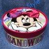 クリームサンドクッキー ミニー/リボン/円筒箱
