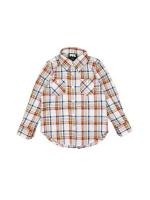 【KIDS MADRAS PLAID B.D SHIRTS / CREAM】