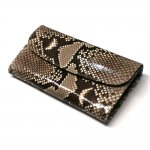 パイソン(蛇革)ギャルソン財布/Lサイズ:ナチュラル