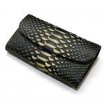 パイソン(蛇革)ギャルソン財布/Lサイズ・ゼブラ柄