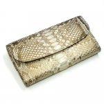 モラレスパイソン(蛇革)ギャルソン財布/Lサイズ:パールゴールド