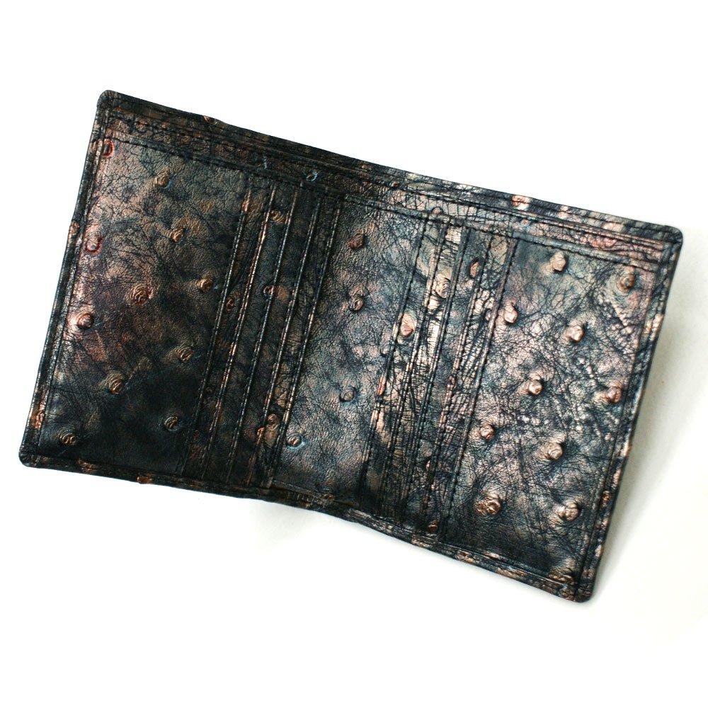 オーストリッチ革財布「駝鳥革財布」小銭入れ無し:ラグジュアリー・レトロ