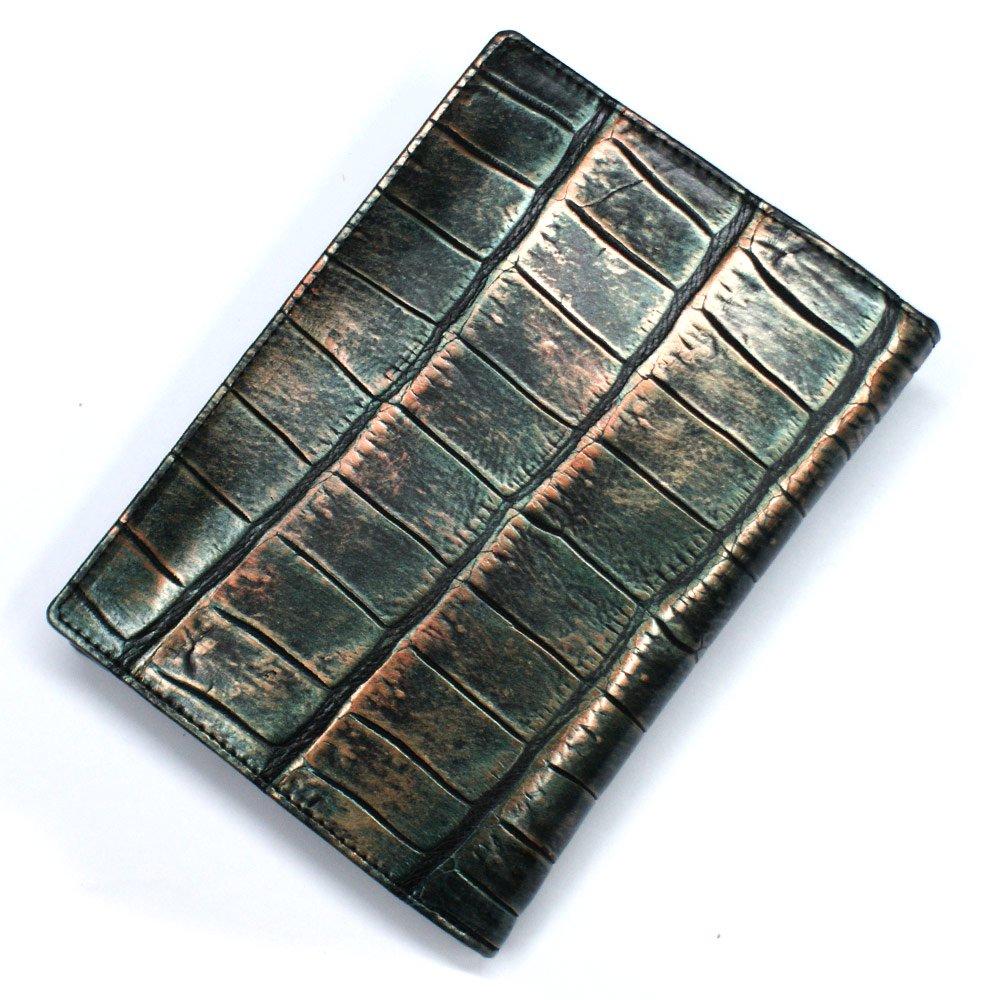 クロコダイル二つ折りカード入れ(L.size):ラグジュアリー・レトロ