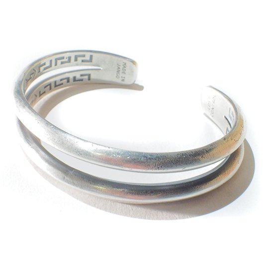 LOST CONTROL  Silver Bangle -Double-...