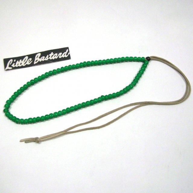 ビンゴブラザーズ  ホワイトハーツ大ビーズネックレス(グリーン) 45CM