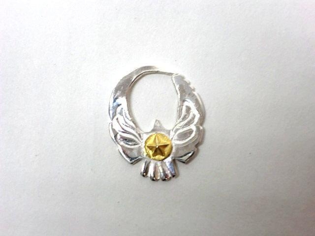 ビンゴブラザーズ シルバー×24K-星 イーグルピアス ラージサイズ(左耳用)