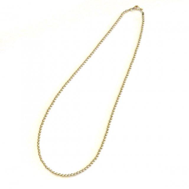 ビンゴブラザーズ 14KGF オールゴールド  丸ビーズネックレス(45cm)