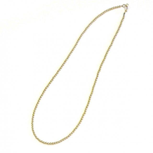 ビンゴブラザーズ 14KGF オールゴールド  丸ビーズネックレス(50cm)