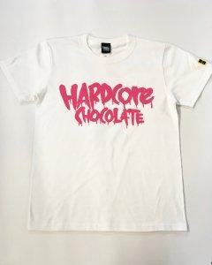 フルメルティッドハードコアチョコレート ベーシックロゴTシャツ(ときめきロマンスピンク)