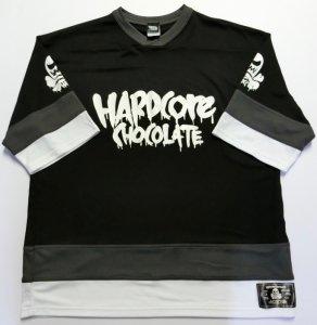 コアチョコホッケーシャツ[18SS](マイティブラック×ホワイト)