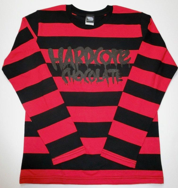 フルメルロゴ ボーダー長袖Tシャツ(監獄ブラック×レッド)