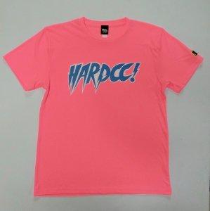 HARDCCラウディロゴ ドライTシャツ (ROD蛍光ピンク)