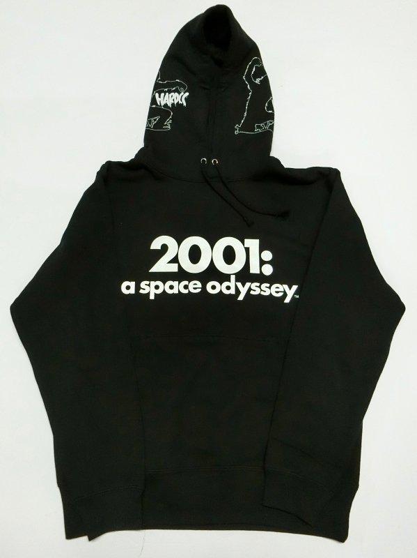 2001年宇宙の旅プルオーバーパーカ(a space odysseyブラック)