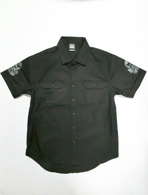 コアチョコスカル・ブラックワークシャツ2020(グレープリント)