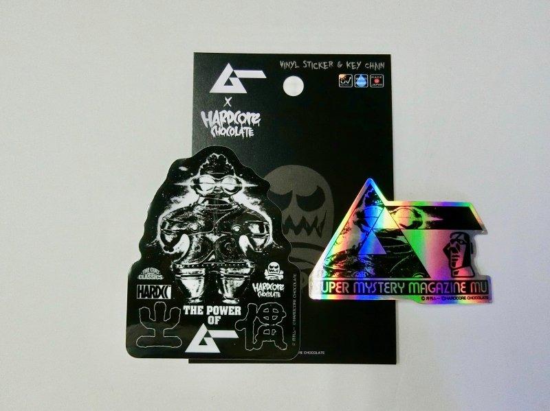 【月刊ムー】ビニールステッカー&ホログラムステッカーセット (遮光器土偶)