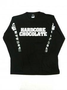 HARDCORE CHOCOLATE スペシャルロゴミックス長袖Tシャツ(ブランニューホワイト)