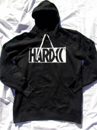 """HARDCC""""ならず者""""消耗品軍団プルーオーバーパーカー(ブラック)"""