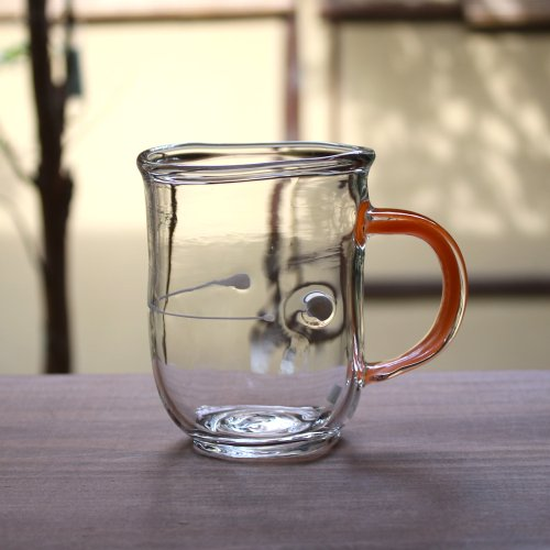 <img class='new_mark_img1' src='https://img.shop-pro.jp/img/new/icons53.gif' style='border:none;display:inline;margin:0px;padding:0px;width:auto;' />渡邊徳明・耐熱ガラス・マグカップ オレンジ