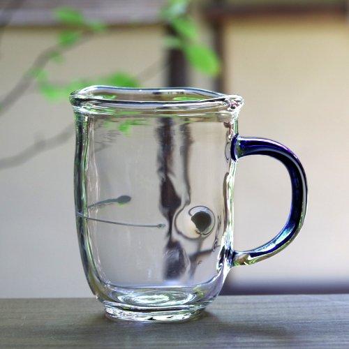 <img class='new_mark_img1' src='https://img.shop-pro.jp/img/new/icons53.gif' style='border:none;display:inline;margin:0px;padding:0px;width:auto;' />渡邊徳明・耐熱ガラス・マグカップ 瑠璃色クリア